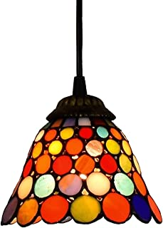 6 Inch Color Dots Glass Pendant Light Ceiling Hanging Lamp High Quality