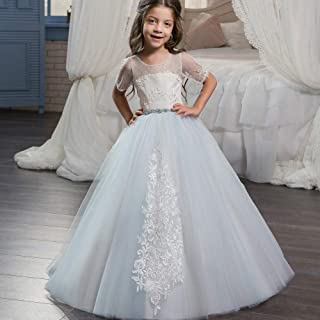 子供の女の子のドレス 女の子の床の長さのプリンセスドレス子供ノースリーブのウェディングパーティーウエディングボールガウン2?13歳 女の子のパーティーウェディングブライドメイドの王女のドレス (サイズ : 10-11T)