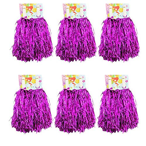 CRIVERS 1 Dutzend Cheerleading Pompons, 12pc Cheerleader Pompoms für Ball Tanzen Schick Kleid Nacht Party Sports (Rose)