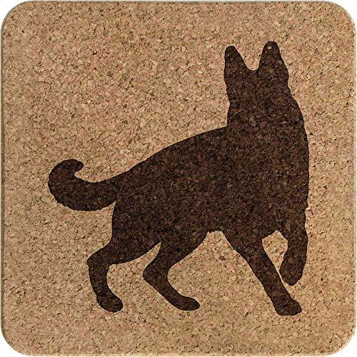 Azeeda 'Elsässer Hundeschattenbild' Kork Topfuntersetzer (TR00009501)