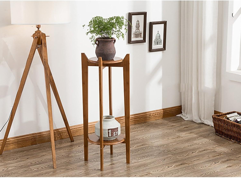 NYDZDM Wooden Flower Display Shelf Rack Shelf Outdoor Indoor Basin Shelf (Size   30×98cm)