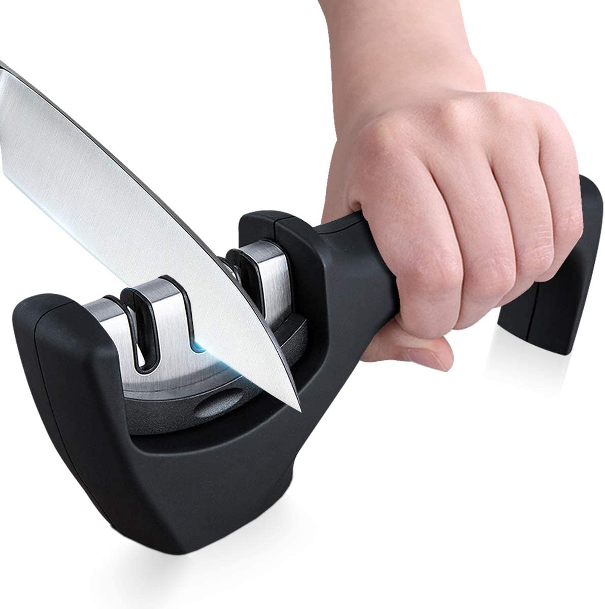 Professional Knife Sharpener Upgraded Kitchen K Premium Cheap mail San Diego Mall order specialty store 3-Stage