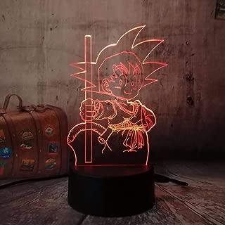 Sproud Dragon Ball 7 Color Touch 3D Lámpara de mesa/Luz nocturna ...
