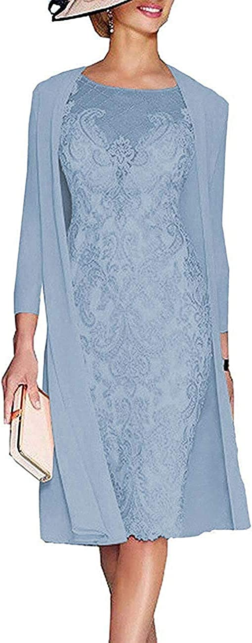 Lace Women's Mother of Japan Maker New Bridal Dresses Chiffon Two Choice Fo Pieces Plus