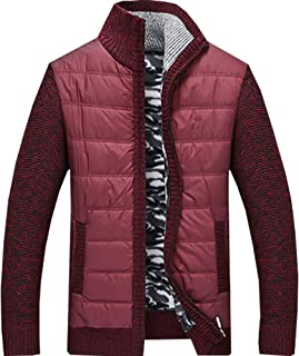 XinDao Men's Quilted Nylon Full Zip Sweater