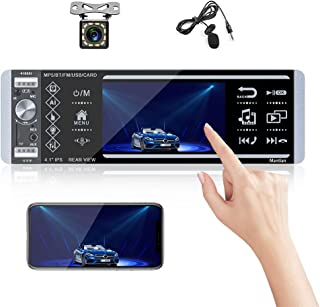 Single Din Touch Screen Car Stereo with Bluetooth Car Audio System FM Radio Receiver with External Microphone, Dual USB/MP... photo