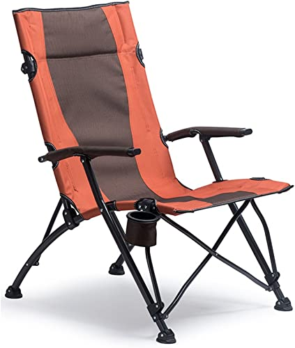 HM&DX Chaises De Camping Pliantes Extérieures pour Personnes Fortes Confort Accoudoir Highback Porte-gobelet Portable Heavy Duty Chaise De Plage Pliante