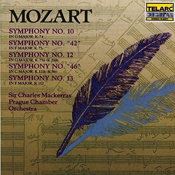 """Mozart: Symphonies No. 10, """"42,"""" 12, """"46"""" & 13"""