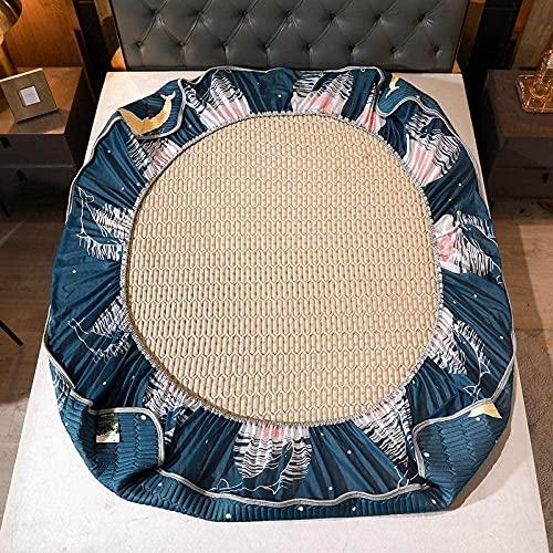 XLMHZP Sábana de Cama de látex para Textiles para el hogarrodeada de cómodas sábanas gruesassuave y Universal en Todas Las estacionesajustable-135cmx200(1pcs) 5