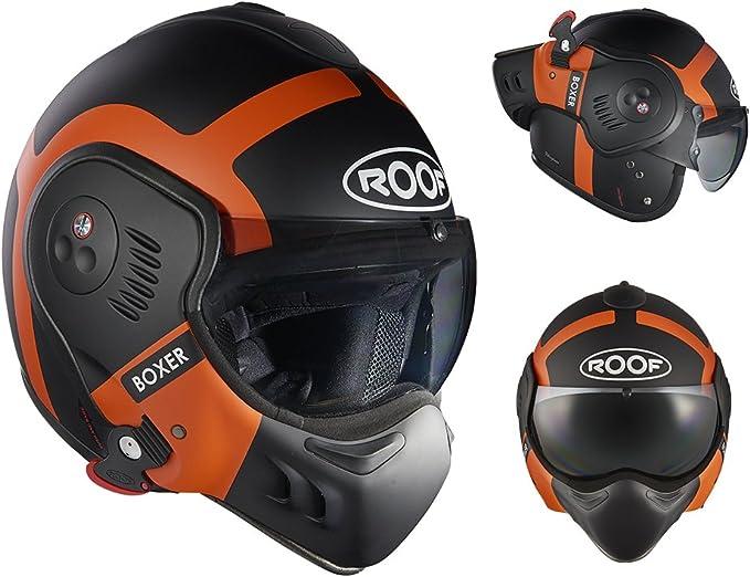Roof Helmet Boxer V8 Bond Matt Orange Size Sm Auto