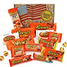 Heavenly Sweets: Reese's American Chocolate Hamper | Classic USA Retro Chocolate and Peanut Butter Candy Pieces, Cups, Bars | Tasty Treats for Gifts, Birthdays, Parties | 17 Items in Gift Box