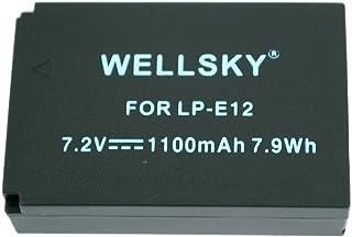 [WELLSKY] Canon キヤノン LP-E12 互換バッテリー [ 純正品と同じよう使用可能 純正充電器で充電可能 残量表示可能 ] イオス EOS Kiss X7 / EOS M/EOS M2 / EOS M100 / EOS Kiss M