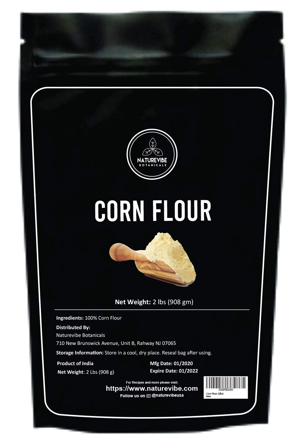 Naturevibe Botanicals Corn Flour, 2lbs | Used For Cooking | Thickening Agent (32 ounces)