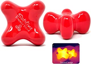 Sublime (Fire)(Single) Synergy Stone - Contoured Hot Stone Massage Tool - Relaxing and Therapeutic for Neck, Back, Legs, Feet - Ultra-Smooth for Massage on Skin with Oil or Over Clothes