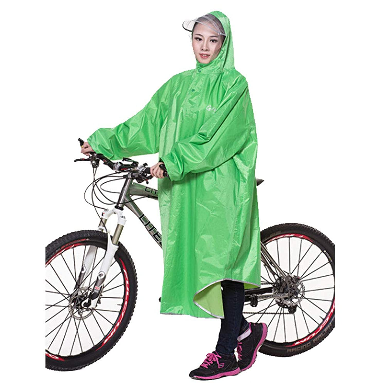 Smile高品質 自転車/バイク レインコート(収納袋付) オックスフォード生地 袖つき/袖なし レインポンチョ 男女兼用 フリーサイズ 防水 防汚 防油加工 全8色