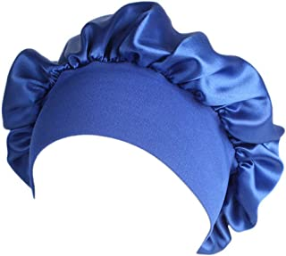 Jpwpowe Women Satin Sleep Cap Full Coverage Soft Night Sleep Hat Cap Chemotherapy Cap