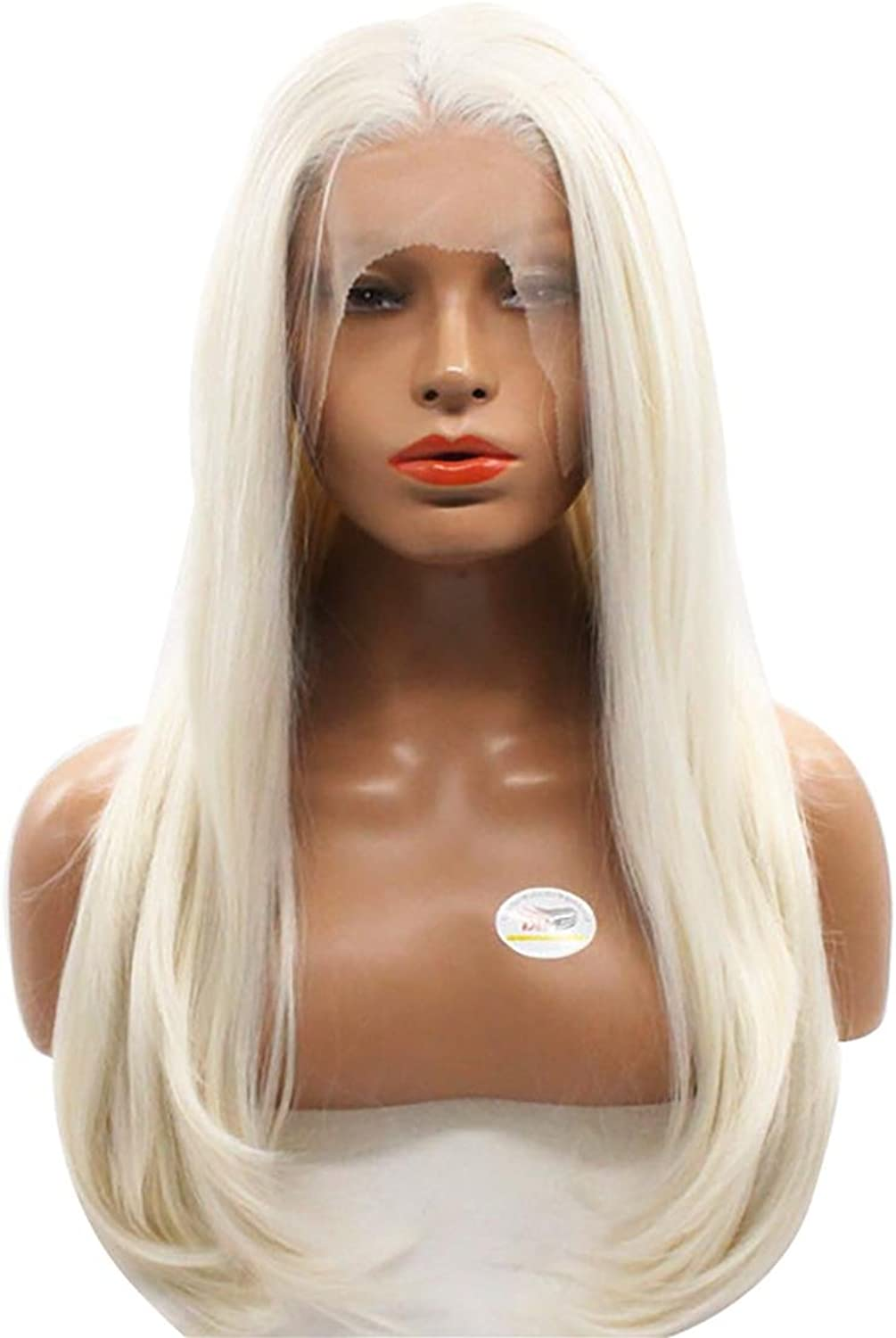 DYan 22 '' Women Wigs High Temperature Silk Hand Wig Synthetic Lace Wig Wig Sets Can be Straight to Hot Dye