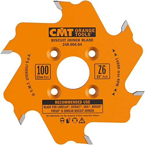 high quality CMT 240.006.04 discount Biscuit Joiner lowest Blade, 4-Inch Diameter x 6 Teeth, PTFE-Coated. outlet online sale