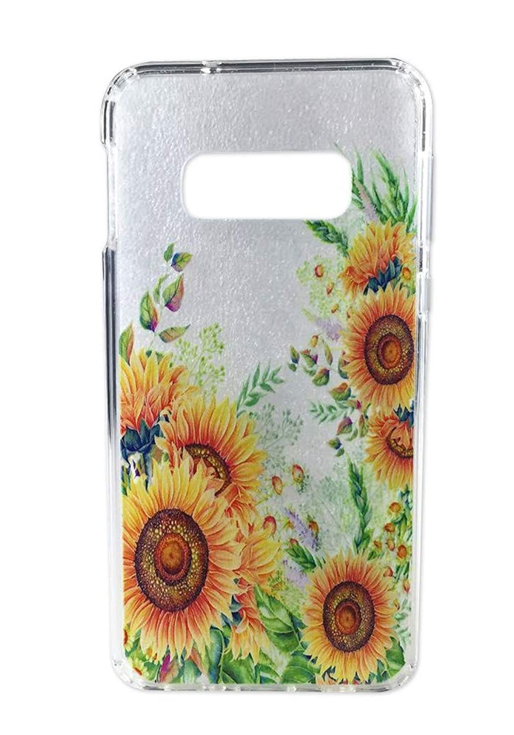 "Galaxy S10e Case, Ftonglogy Crystal Clear Anti-Scratch Shockproof Cover Plant Yellow Flowers Garden Printed Design Pattern TPU Bumper Case for Samsung Galaxy S10e (5.8""), Sunflower"