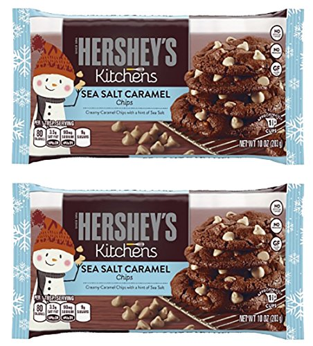 Hershey's Kitchens Sea Salt Caramel Chips, 10oz (2 Pack)