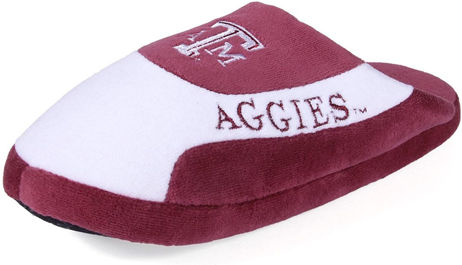 TAM07-4 - Texas A & M Aggies - X Large - Happy Feet Mens and Womens - NCAA Low Pro Slippers