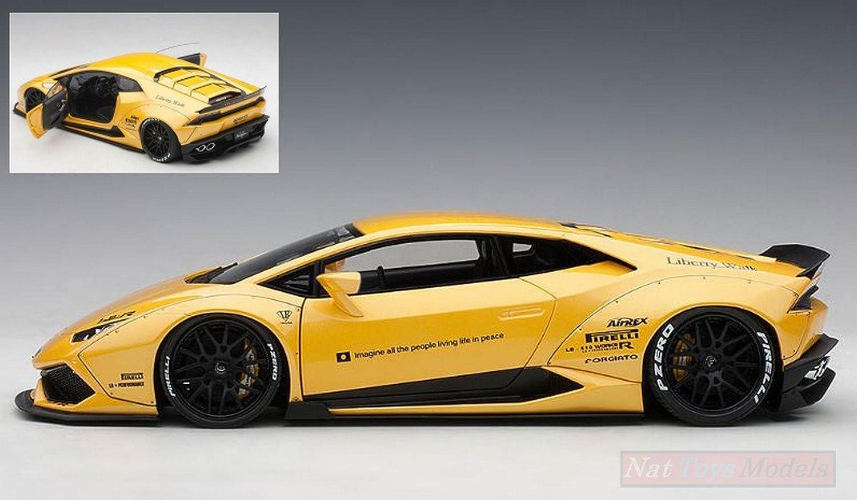 ahorra hasta un 70% NEW AUTOART AA79124 Lamborghini Huracan Liberty Walk Metallic Metallic Metallic amarillo 1 18 Die Cast  tomar hasta un 70% de descuento