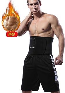 KIWI RATA Premium Neoprene Waist Trimmer Belt Hot Sweat Slimming Body Shaper Wrap for Fat Burner,for Men & Women