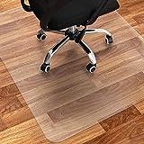 Bodenschutzmatte Bürostuhl Transparent Rechteckig | 120 x 90 cm | Büro oder Arbeitszimmer Schreibtisch Unterlage