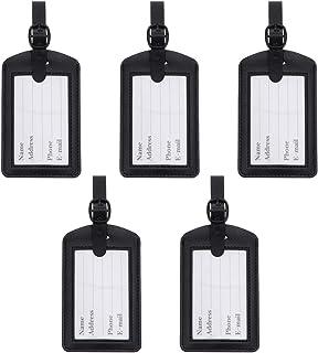 5 peças de etiqueta de couro para bagagem de viagem, mala de viagem, etiquetas de bagagem, para homens, mulheres, criança...