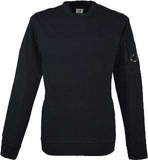 C.P. Company Garment Dyed Lens Sweatshirt - Black - M