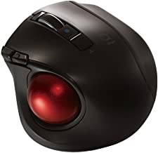 Nakabayashi Co,Ltd. Digio2 Bluetooth Wireless Trackball for Window PC and Mac and Android (Black)