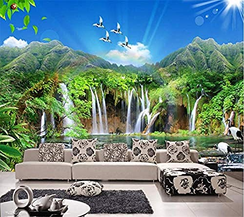 Custom Mural 3D Photo Wallpaper Jiangshan Picturesque Landscapes Beautiful TV Background Wall Living Room 3D Wallpaper Paste Living Room The Wall for Bedroom Mural-350cm×256cm