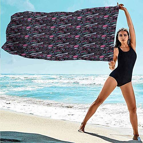 qinzuisp Bath Towels Abstraktes Traumhaftes Muster Mit Lebendiger Coole Linien Expressionistisches Naturbild Und 80X130Cm Weiches Badezimmer Reisen/Fitness/Schwimmen Saugfähiges Poolhandtu