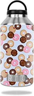 MightySkins Skin Compatible with RTIC 64oz Bottle (2016) – Donut Binge | Protective, Durable, and Unique Vinyl Decal wrap Cover | Easy to Apply, Remove, and Change Styles | Made in The USA