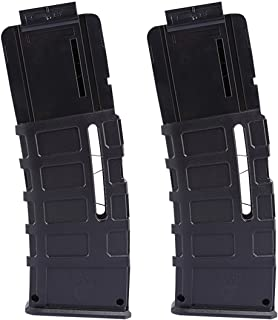 Bullet Clips, Worker F10555 2 Pack 15-Dart Quick Reload Clip Worker Magazines for nerf n strike elite blaster nerf modulus series
