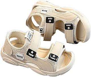 Hopscotch Baby Boys PU Velcro Open Toe Floaters - Beige