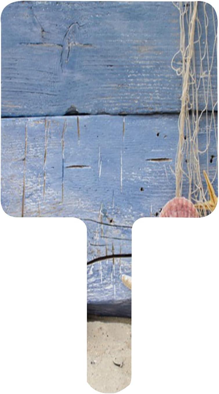 XfaithX Hand Mirror Starfish Seashells Ocean Small Max 74% OFF Cheap mail order sales Fishnet Beach
