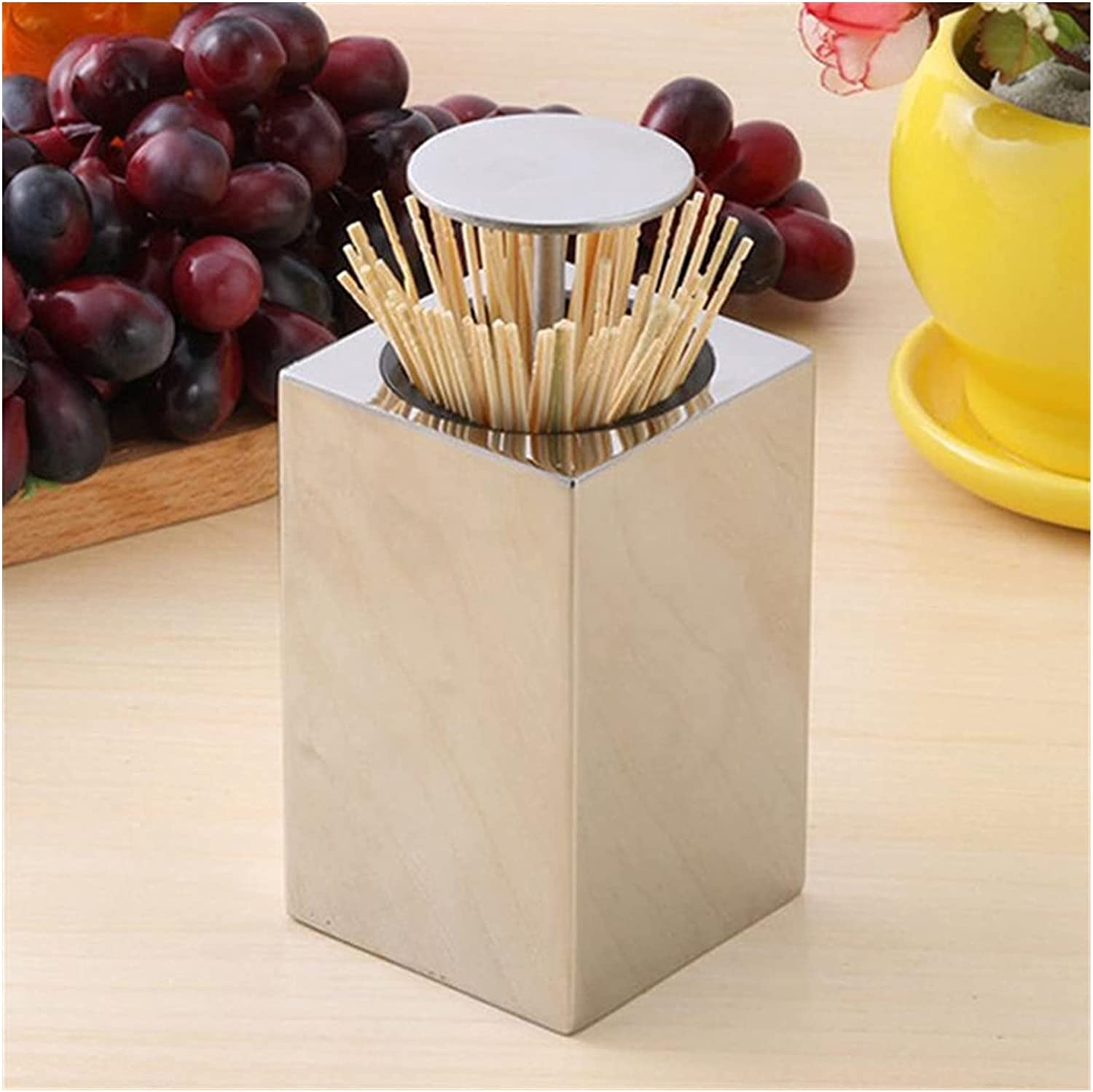 chenfeng Toothpick Dispenser Holder Steel Wholesale Max 69% OFF Stainless Ru