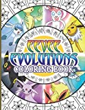 Eevee Evolutions Coloring Book: Eevee Evolutions Amazing Coloring Books For Adult Activity Book Lover Gifts