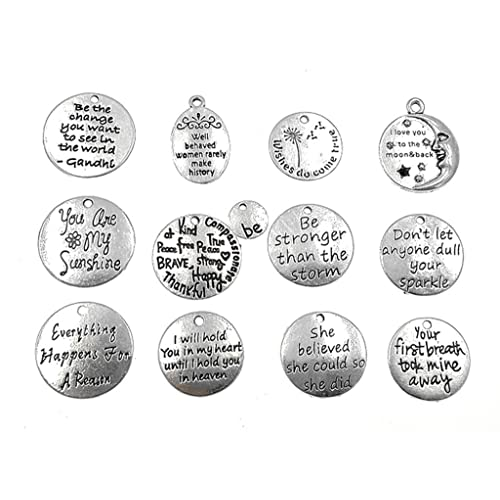 Crafts 2 I Love You To The Moon And Back Pendants Charms Antiqued Silver Quote Charms Charms & Pendants
