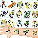 German Trendseller - 12 x Tatuajes temporales fútbol┃ Fiestas Infantiles┃ Idea de Regalo┃piñata┃cumpleaños de niños┃ 12 Unidades…