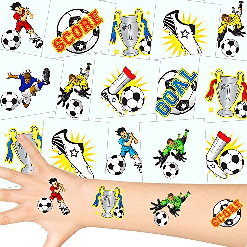 German Trendseller® - Fußball Tattoos Set ┃ NEU ┃ Fußball Party ┃ Kindergeburtstag ┃ Mitgebsel ┃36 Tattoos