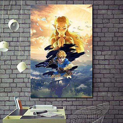 zzlfn3lv HD Druck leinwand malerei Dekoration/stück Zelda Legende wandkunst modulare Bild Moderne Klassische Poster rahmenlose Schlafzimmer 1 50 * 70 cm