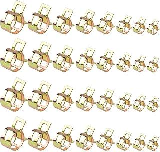 Set de Combustible Tubos de Manguera Abrazadera de la Manguera del Tubo Sujetador Clip Clips 15-17mm Tubo Circular Abrazadera de Pipa de Agua del Aire ZYElroy 10PCS