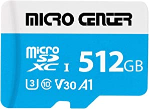 $59 » Micro Center Premium 512GB microSDXC Card UHS-I Flash Memory Card C10 U3 V30 4K UHD Video A1 Micro SD Card with Adapter (5...
