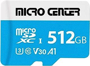 $59 » Micro Center Premium 512GB microSDXC Card UHS-I Flash Memory Card C10 U3 V30 4K UHD Video A1 Micro SD Card with Adapter (5...