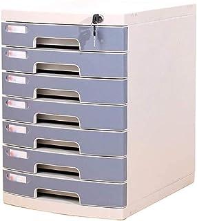 Classeurs Bureau Cabinet de bureau Classeur, 7 couches A4 verrouillables Bureau de stockage des données Cabinet, multi-tir...