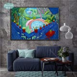 zhuziji Sin marcoDavid Hockney A Bigger Splashist Custom Hot New Art Poster Top Canvas ng Decoración para el hogar Impresiones d50x70cm