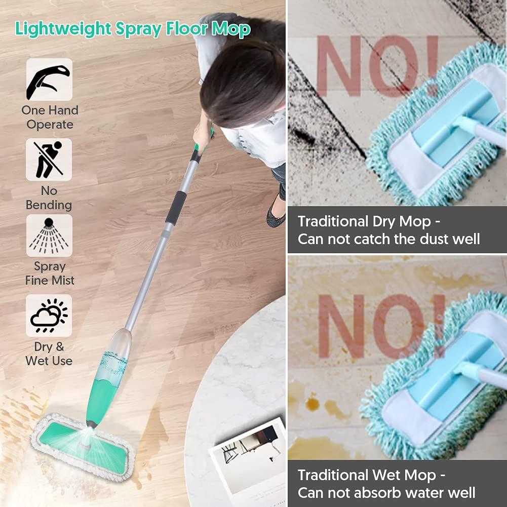 Buy Spray Mop for Floor Cleaning, TINA&TONY Microfiber Hardwood ...