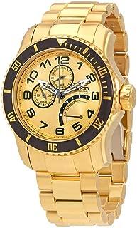15343 Mens Pro Diver Quartz Multifunction Gold Dial Watch with JR00 Caliber